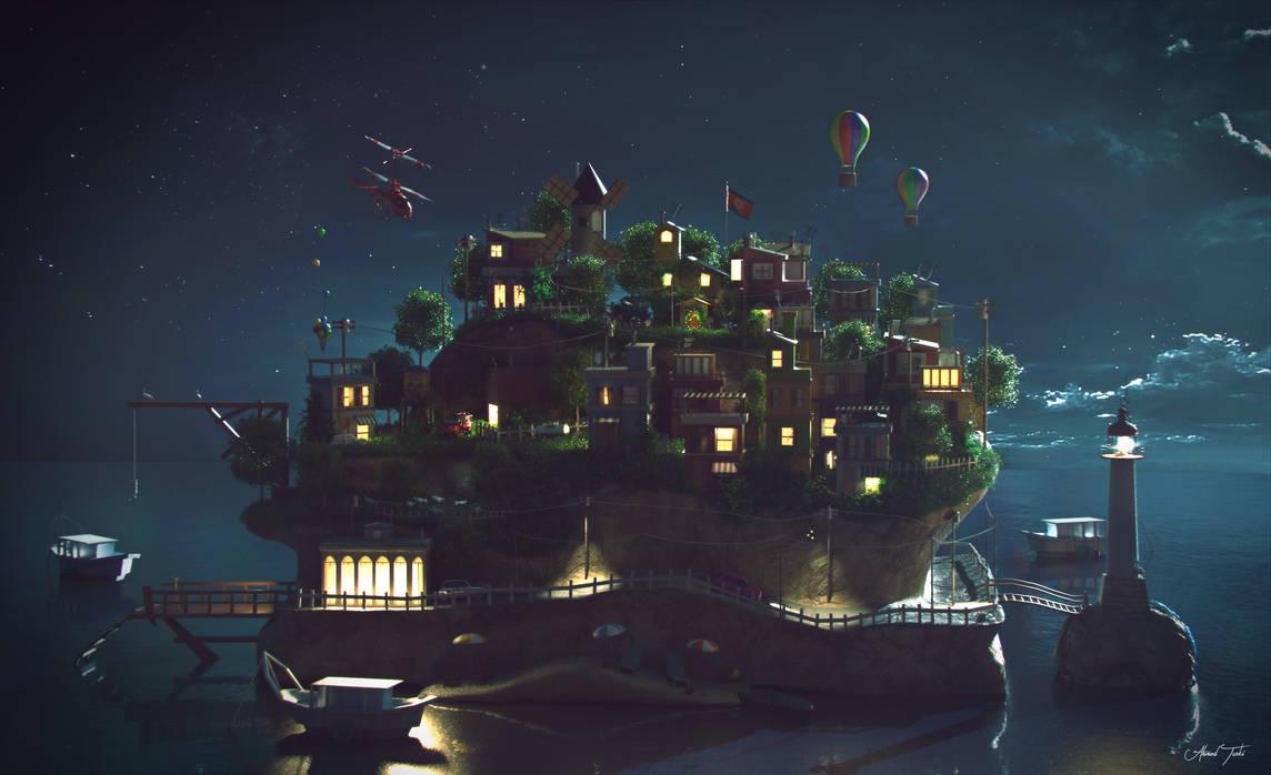 Island Night Shot by AhmadTurk