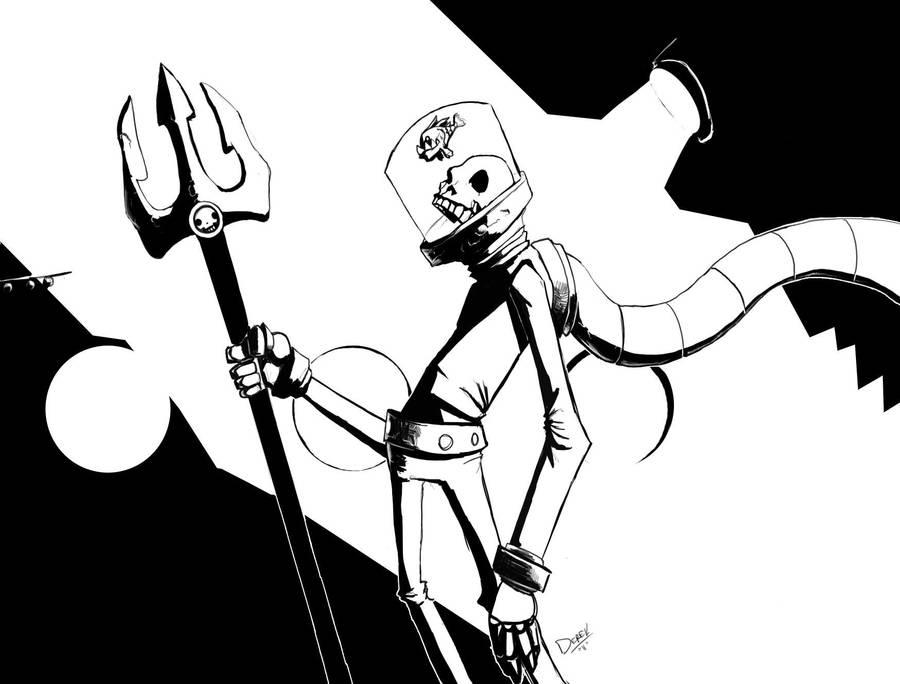Super Villain mignola style by archangel73