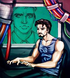 Iron Man: Working Hard by loonylucifer