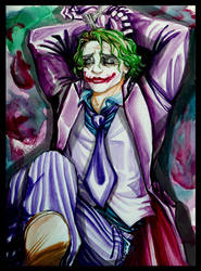 Joker: Basking in Cuffs by loonylucifer
