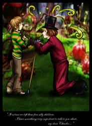 Charlie and Mr. Wonka by loonylucifer