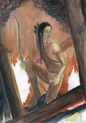 Djaren in the burning city by RuthLampi