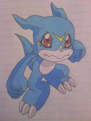 Digimon: Veemon by ShiftyGuy1994