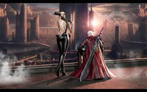 # Trish x Dante by DemonLeon3D