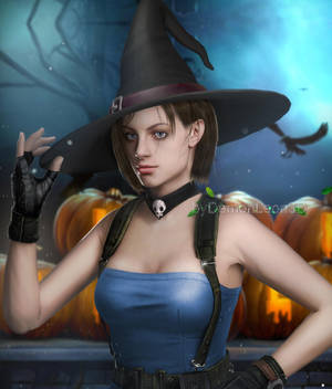 Jill's Halloween by DemonLeon3D