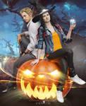 Ethan x Mia - Halloween by DemonLeon3D
