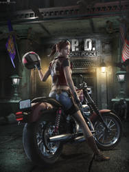RE2 Claire Redfield by DemonLeon3D