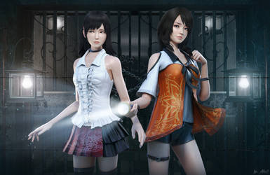 Fatal Frame Miu and Yuri by DemonLeon3D