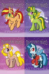 Nightmare Nights 2014 Daily Badges by joeartguy