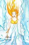 Ilmatar  air goddess by fairychamber