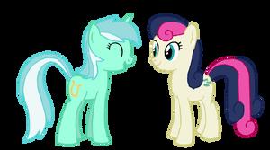 Lyra and Bon Bon by zeppony