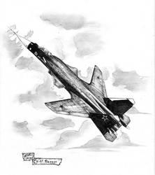Su-47 Berkut by redguard