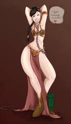 Inanna's Cosplay: Slave Leia by AracneZenoskaya