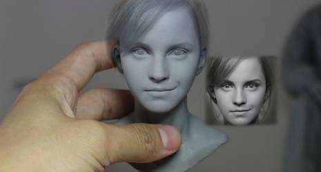 Hermione, Emma watson WIP by 4eunicekey