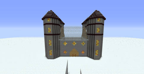 Minecraft Castle in the Snow by seth243