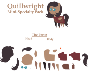 Quillwright Pointy Pony [Commission] by Zacatron94
