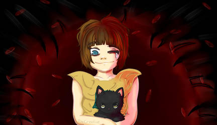 Fran Bow and Mr. Midnight by TheCreativeVibes