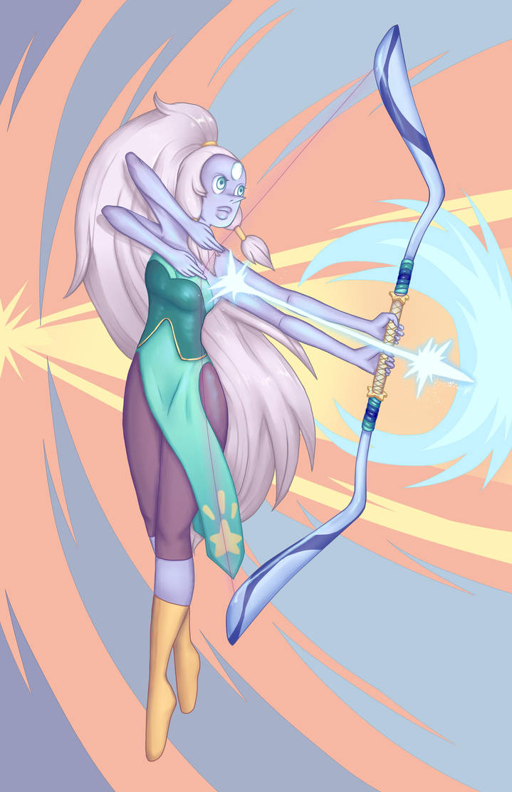 I drew everyone's favourite blue, four-armed, giant woman, Opal xD. I looove her design so much, she's an awesome fusion, and I love how elegant she is, so I had to draw her. I enjoyed drawing this...