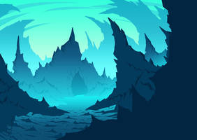 Ice Cave by OGARart