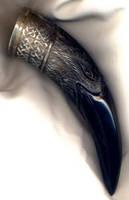 a raven horn by Bonecarverpm