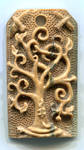 Yggdrasil Mammoth Ivory Pendant - front by Bonecarverpm