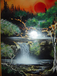 Sunset Falls by paulwk