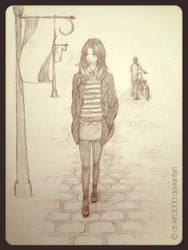 Walking Girl by DT-Kitt3000