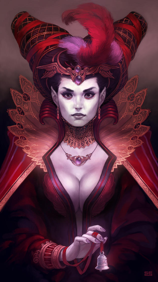 Portrait of the dead countess by Scebiqu