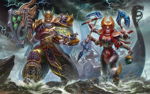 SMITE Viking Invasion by Scebiqu