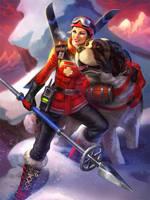 SMITE Skadi - SkiPatrol by Scebiqu