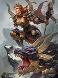 SMITE Skadi Dragonkin by Scebiqu