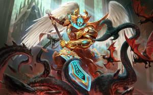 SMITE Celestial Guardian Odin by Scebiqu