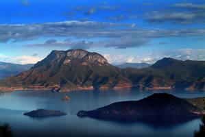 Lake Lugu of The Lost Horizon by SAMLIM