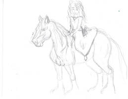 Merida and Angus quick sketch by Sacred-War-Horses