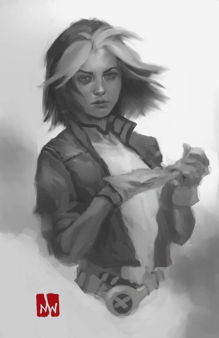 X-Men::Rogue Sketch by MarkWinters