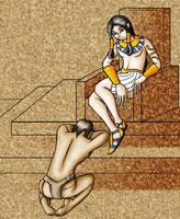 Pharoh and Slave by Raikana