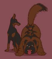 Dog Trio by Raikana
