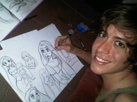 Rapunzel Sketches by jardc87