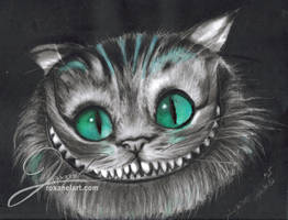 Cheshire Cat by FleurBleueArt