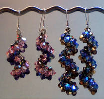 Vertigo Crystal Earrings by beadg1rl