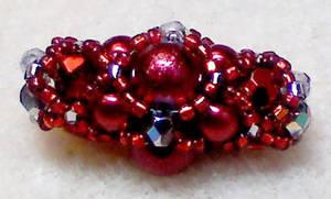 Crimson Beaded Bead by beadg1rl