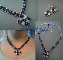 Crystal Fantasy Necklace Set by beadg1rl