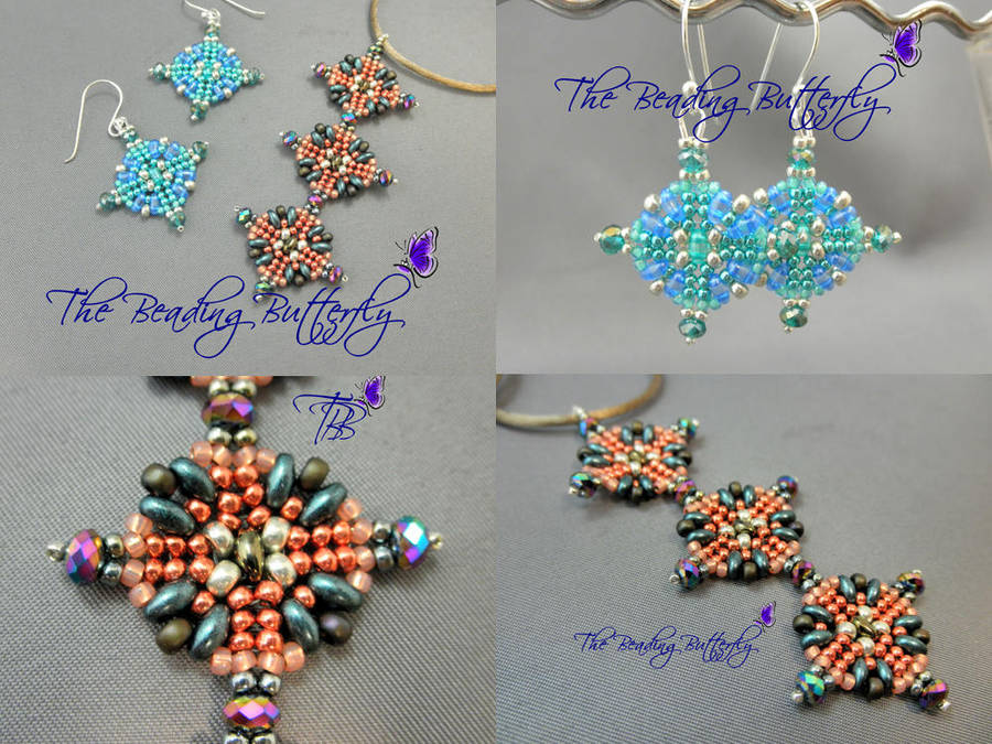 Aztec Sun Pendant Or Earring Tutorial Twin Or Duo By Beadg1rl On