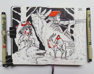 Princess Mononoke by Rill-Rill