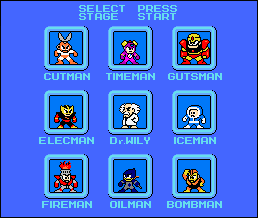 MegaMan Slct Scrn Orig. -DL- by BlueFirez88