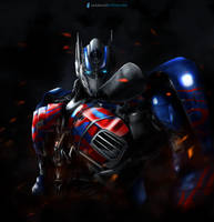 Optimus Prime AOE (painted with a mouse) by SUPERsaeJANG