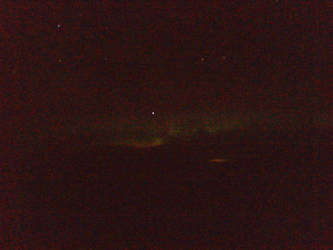 (Poor quality, sorry) Northern Lights above Canada by Kiba67