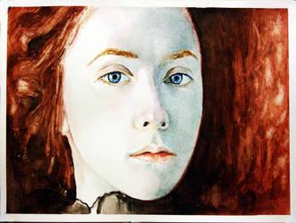 watercolour portrait by Benbe