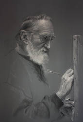 El Maestro en su estudio by Benbe