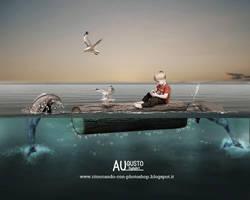 Soccorso in mare by AugustoDigitalArt